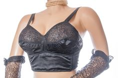 Traditional 50's vintage long line soft cup bra  от dreamdate
