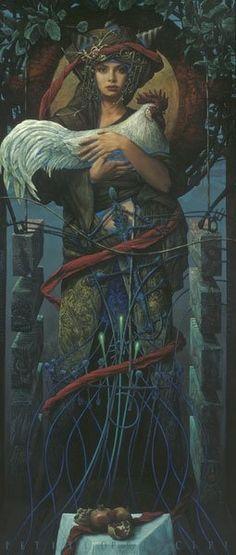 Art by Serbian Painter Zeljko Tonsic Pop Surrealism, Gods And Goddesses, Figurative Art, Dark Art, Celtic, Cool Art, Contemporary Art, Illustration Art, Creations