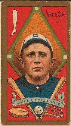 [Lange, Chicago White Sox, baseball card portrait]