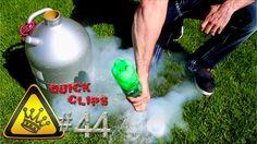 QC#44 - Nitrogen Rocket Liquid Nitrogen blasts a water rocket over 100 feet away, and breaks my kitchen window.