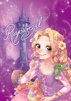 Disney & Cartoon In Anime - Disney Princess - Pagina 3 - Wattpad Anime Disney Princess, Disney Pixar, Disney Rapunzel, Disney Animation, Disney Princesses And Princes, Disney Princess Drawings, Film Disney, Disney Fan Art, Disney Drawings