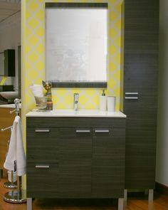 El amarillo es símbolo de alegría. ¡Llena tu baño de buen humor!