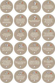Etiketten - Adventskalenderzahlen mit Aufgaben für Erwachsene - ein Designerstück von Eine-der-Guten-Illustration bei DaWanda