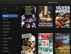 Popcorn Time is an free, open source desktop software for Mac, Windows, and Linux that acts like an online video streaming service for streaming video torrents. Online Video Streaming, Carl Laemmle, Popcorn Times, John Barrymore, The Martian, Movies To Watch, Movies And Tv Shows, Documentaries, The Incredibles