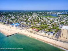 35 Ocean Ave, Monmouth Beach, NJ 07750 | MLS #22130740 | Zillow Monmouth Beach, Ocean Front Property, Buses And Trains, Historic Architecture, Once In A Lifetime, The Hamptons, Acre, City Photo, Sunrise