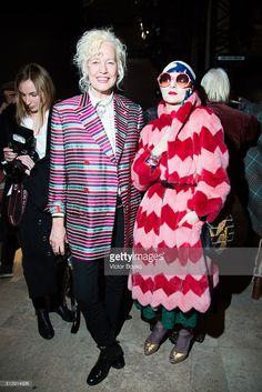 Ellen von Unwerth, Catherine Baba attends the Vivienne Westwood show as part of the Paris Fashion Week Womenswear Fall/Winter 2016/2017 >> on March 5, 2016 in Paris, France.