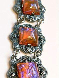 Dragons Breath Sterling Bracelet  Rare by VintagePoetlandia, $375.00