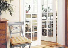 Pariovet Jeld-Wen Craft 105 12-ruutuiset kirkkaalla lasilla ruokailuhuoneen ovina Modern Country, China Cabinet, Cottage, Furniture, Home Decor, Craft, Style, Summer, Ideas