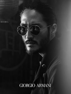 Tony Thornburg by Serge Guerand / Giorgio Armani SS 2014 l #framesoflife #sunglasses