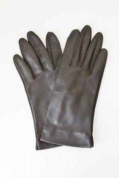 Vintage 60's Hanson Black Wrist Gloves by foundundertheeaves on Etsy