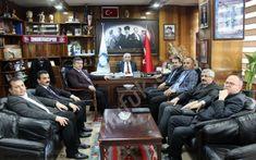 CHP Zonguldak milletvekili Ünal Demirtaş ile il başkanı Umut Başoğlu Genel Maden-İş'in genel başkanı  Ahmet Demir'i ziyaret ederek Çalıştay konusunda görüş alışverişinde bulundular.