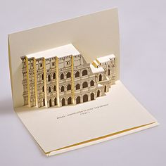 Our Pop-up kirigami postcards (Origamic architecture - Paper Architecture) are an Elegant and Refined article, Ideal for every occasion, Unique of its kind thanks to the original Three-dimensionality. Diy Paper, Paper Art, Paper Crafts, Famous Monuments, Paper Architecture, Up Book, History Projects, Pop Up Cards, Kirigami