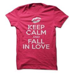 Keep Calm And Fall In Love T Shirts, Hoodies. Check Price ==►…
