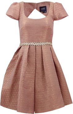 Notte By Marchesa Metallic Brocade Cocktail Dress in Pink (GLD-PINK) - Lyst