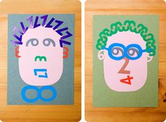 Number portraits are a fun and simple way for learning numbers in a playful way.
