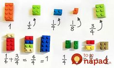 Lego is not for playtime only anymore. Here is a cool Lego idea - you can use LEGO To Explain Math To Children Easily . It includes fractions, squares . Student Learning, Teaching Math, Kids Learning, Math Education, Visual Learning, Teaching Music, Build Math, Basic Math, Teaching
