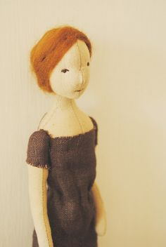 Cloth doll / red haired art doll by willowynn on Etsy