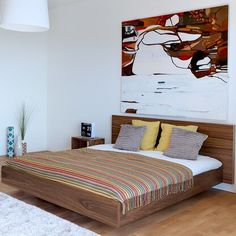 Temahome Float Bed with Mattress Support Queen Walnut -- Read more at the image link. (This is an affiliate link and I receive a commission for the sales) King Platform Bed, Upholstered Platform Bed, Super King Bed Frame, Bed Frames For Sale, Platform Bed Designs, Floating Bed, Contemporary Bedroom Furniture, Adjustable Beds, Bedroom Sets