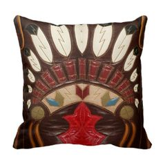 western pillows | Western Style Leather Look Throw Pillows