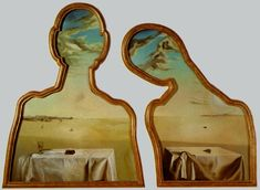 A Couple With Their Heads Full Of Clouds- Salvador Dali