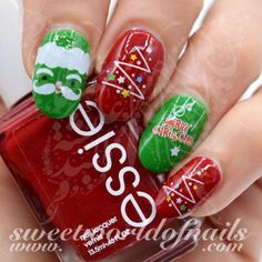 Christmas Nail Art Santa Face Tree Nail water Decals