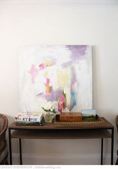 Aubrey + Lindsay's Blog: DIY Abstract Art - Idea for the livingroom canvas