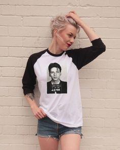 Vintage Style Frank Sinatra Mugshot Jersey/T-Shirt by FiftyEggs  - Medium