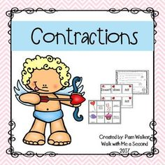 Do your students need practice on making and breaking contractions? Here are easy to prepare partner, small group, Daily 5 Word Work, work station or center games that learners can use to read and associate the contraction with the two small words that make up the contraction.