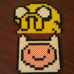 Jake & Finn Adventure Time perler beads by  twinsistercraft