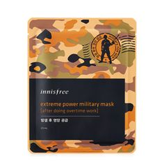 Buy Innisfree Extreme Power Military Mask - After Doing Overtime Work at YesStyle.com! Quality products at remarkable prices. FREE WORLDWIDE SHIPPING on orders over US$35. 6.21 1pc