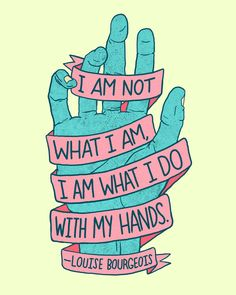 I am not what I am, I am what I do with my hands (by josh lafayette)