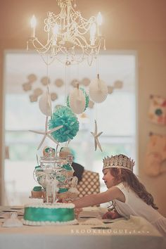 Vintage Mermaid Cake Bunting  Assembled  By by PaperCandee on Etsy, $15.00
