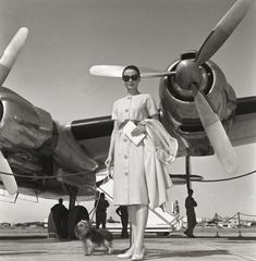 """Class Golden Era on Instagram: """"Audrey Hepburn and her dog, Mr Famous, used to love flying around the world."""""""