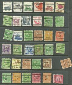 US Definitives 1938 Presidential Series, Coils Transportation precancel stamps