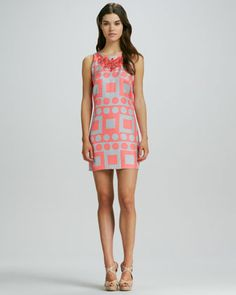 It's been too long since my last Milly! Maggie Printed Sleeveless Dress by Milly at Neiman Marcus.