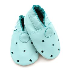 d3ef9a4d9f6 Mint Green With Cut out Stars – Dotty Fish Soft Leather Baby Shoes – resting