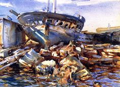 Flotsam and Jetsam, Watercolour by John Singer Sargent (1856-1925, Italy)