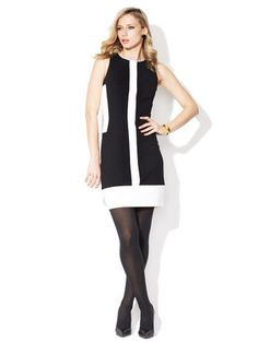 Pink Tartan Color Block Panel Shift Dress - on sale today!