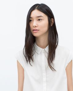 Image 2 of SIDE SLIT SHIRT from Zara