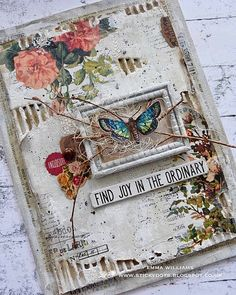 That's Life: Spread Your Wings and Fly. Altered Canvas, Altered Book Art, Altered Tins, Mixed Media Cards, Mixed Media Journal, Fabric Journals, Art Journals, Art Journal Pages, Junk Journal