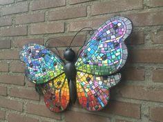 Rainbow butterfly mosaic