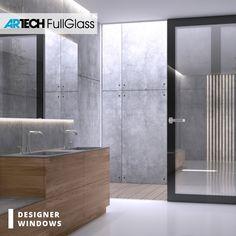 Modern luxury bathroom Modern Luxury Bathroom, Entrance Doors, Sliding Doors, Bathtub, Windows, Furniture, Design, Home Decor, Entry Doors