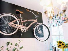 liberty print bike as wall art.