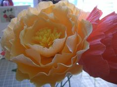 crepe paper peonies - diy;similar to the hibiscus flowers I used to make.