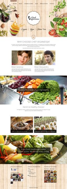 The client owns a catering food business, the current website is: http://www.veganessa.ca