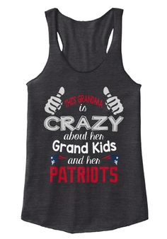 This Grandma Is Crazy About Her Grand Kids And Her Patriots Eco Black Women's Tank Top Front Grand mom Grandmother Grandma Gift Ladies T-Shirt nana shirts Cute Grandma Gift Ladies T-Shirt nana shirts,nana t shirt,best nana ever shirt,personalized grandma shirt,grandma t shirt,grandma shirt,great grandma shirt.