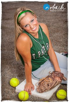 Senior sport photo. This would be great - except on the pitcher's mound.