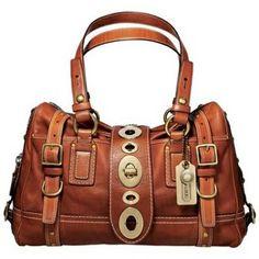 signature Coach Hamptons Signature Weekend Satin Tote Bag Satchel