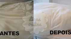 Fantástico! Travesseiros como novos! Sem o encardido e sempre branquinhos - # #bicarbonatodesódio #limparcomvinagre #vinagre