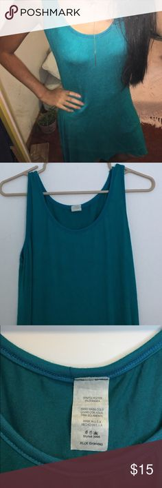 """NWOT sea blue dress Unbranded. This dress is a high to low styled cut. Literally like new, there are zero flaws! Tag says XL but I'm 5""""1, and has a nice fit. 🌿Perfect condition!                                           🌿One size Urban Outfitters Dresses High Low"""